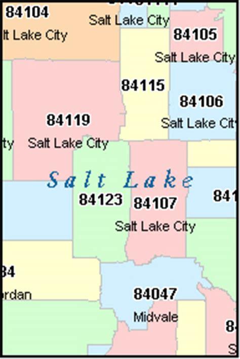 Salt Lake City Zip Codes Map